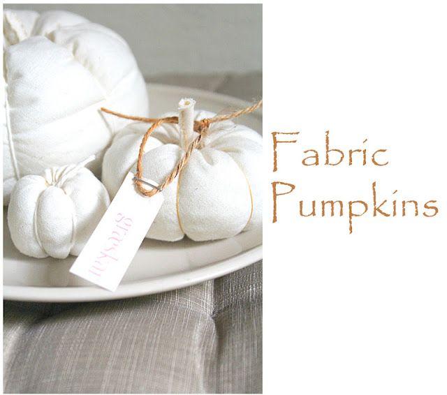 DIY: Fabric Pumpkin