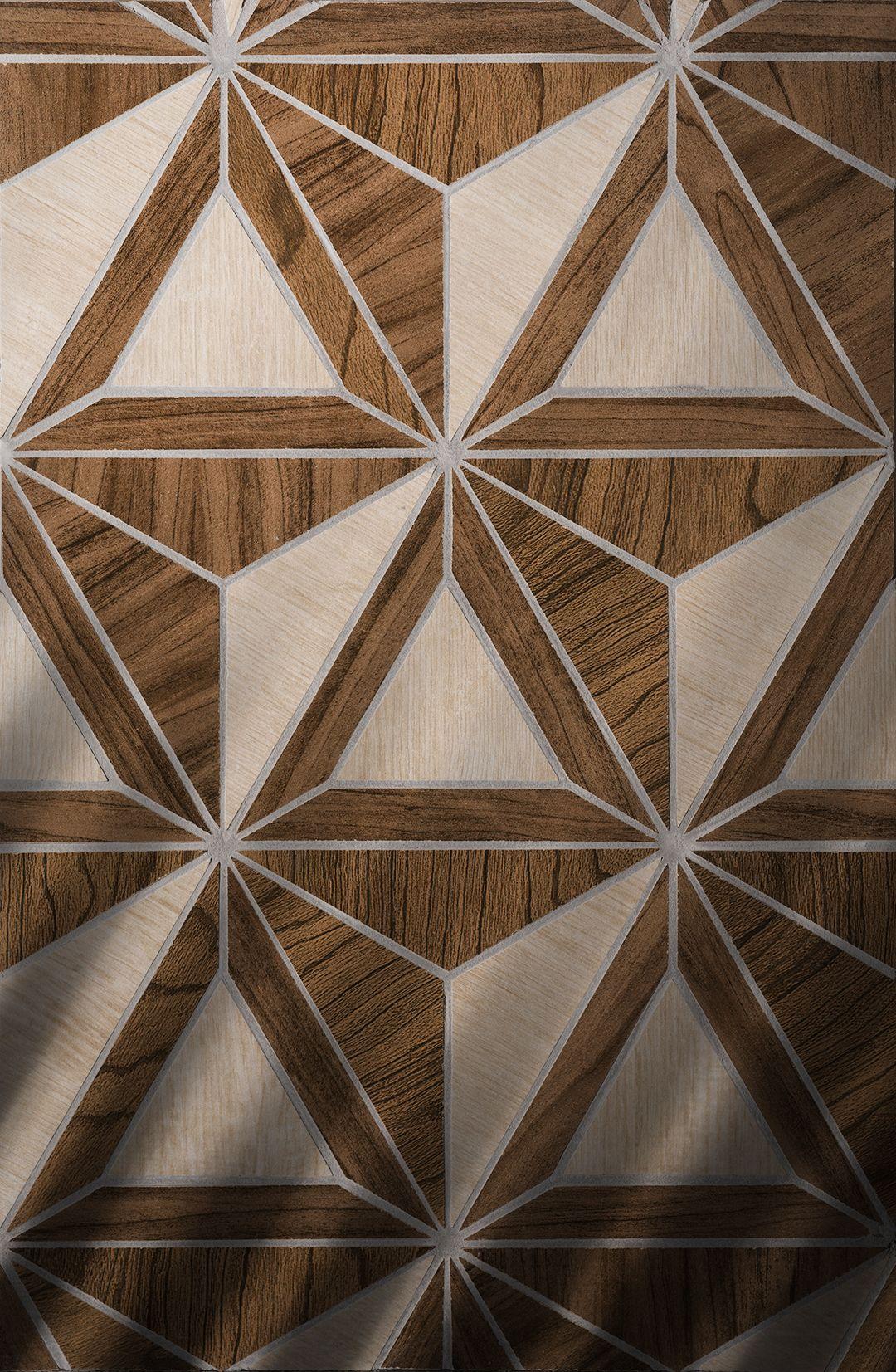 Golotri Geometric Shapes Shown In Wood Porcelain Waterjet