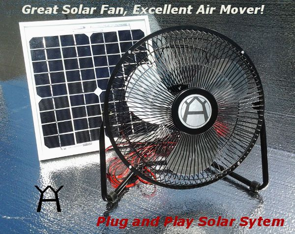 Solar Powered Fan Plug And Play 12 Medium Size Fan With 10 Watt Solar Panel Solar Powered Fan Solar Fan Solar Panels