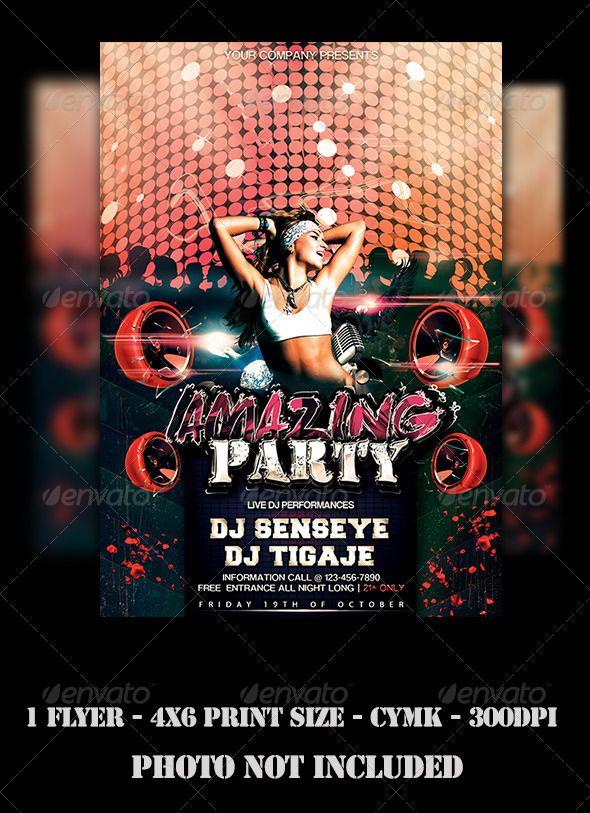 Dj Party Flyer  Dj Party Party Flyer And Flyer Design Templates