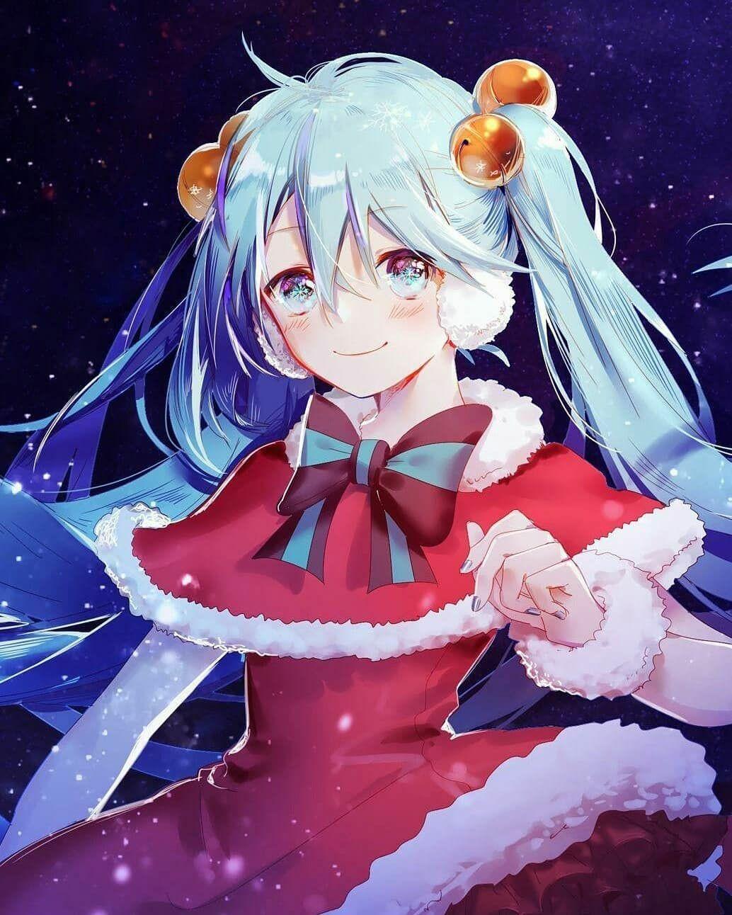 Merry Christmas!^^💕💕💕💕 in 2019 Hatsune miku, Anime