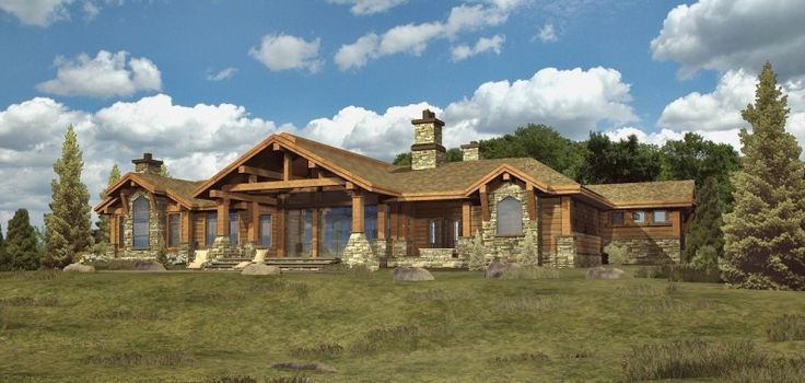 Ranch style homes google search ranch homes for Ranch style log home designs