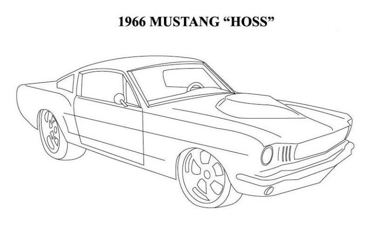 1965 mustang cars coloring pages