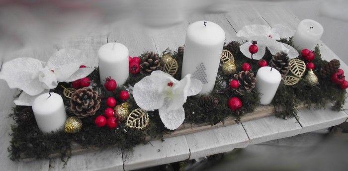 Couronnes étoiles et boules-Advent Orchidée