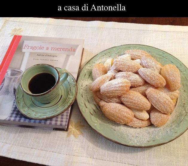 A casa di Antonella, le madeleines di pagina 194 sono uscite dal forno - e dal libro - perfette! Giusto quel che ci vuole per una pausa caffé: madeleines e un libro per amico...   #quifragoleamerenda
