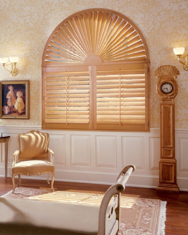 Wood Shutters Perfect For Specially Shaped Windows Window Shutters