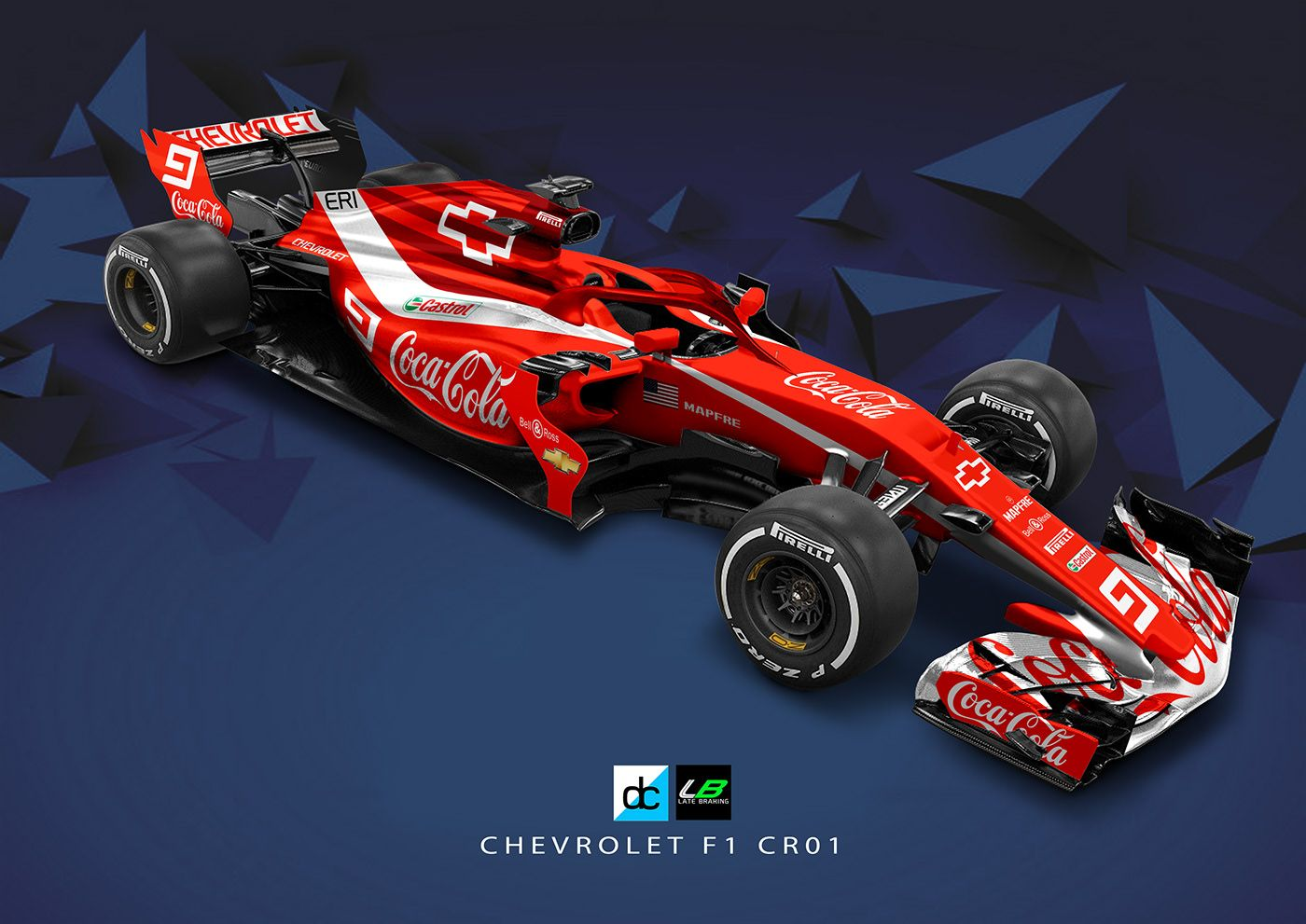 Chevrolet Racing F1 Concept Livery Late Braking On Behance F1