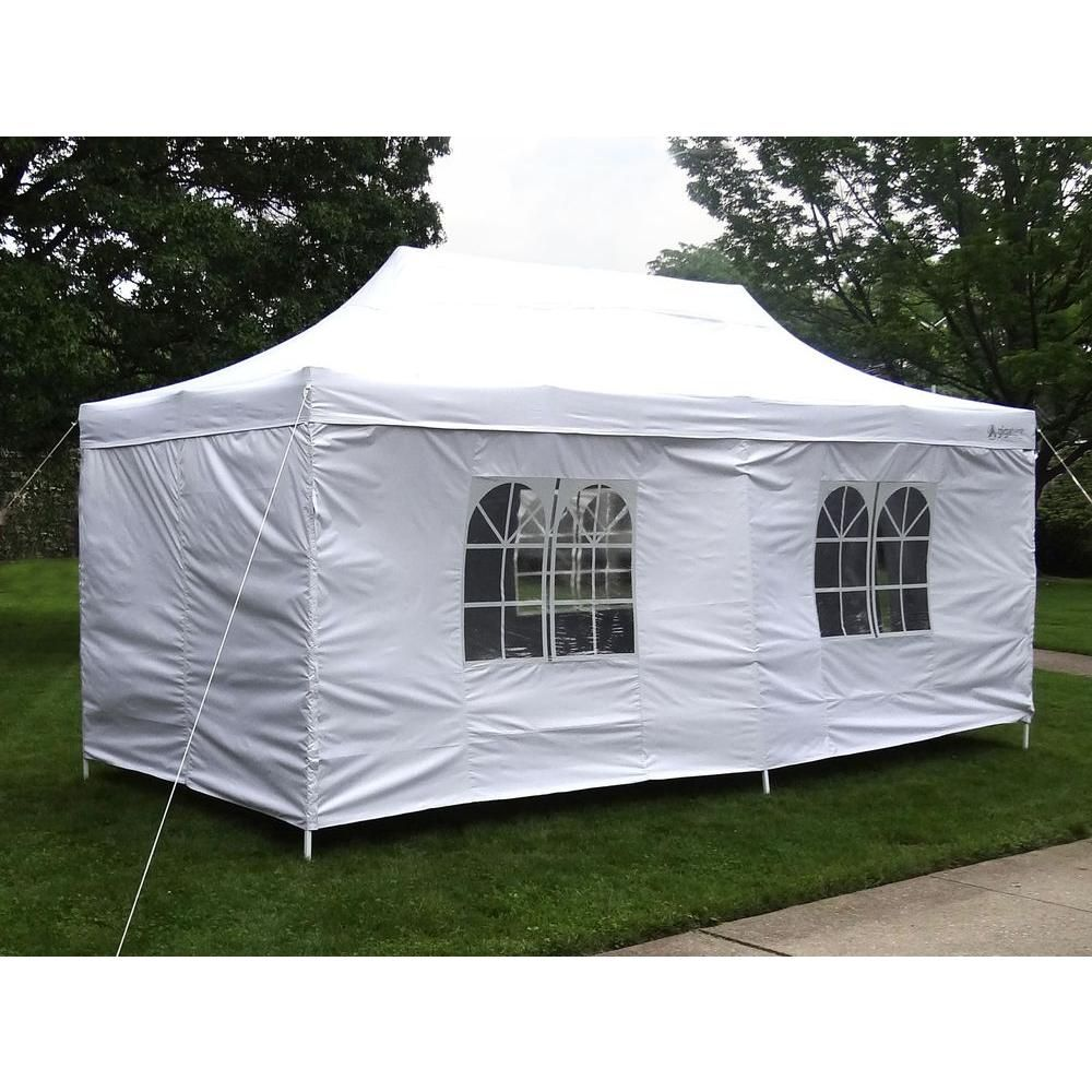 Gigatent Gigatent Pop Up Canopy 20 In X 10 Height Up To 130 In Walls Included White Gt005w Canopy Tent House Canopy Tent