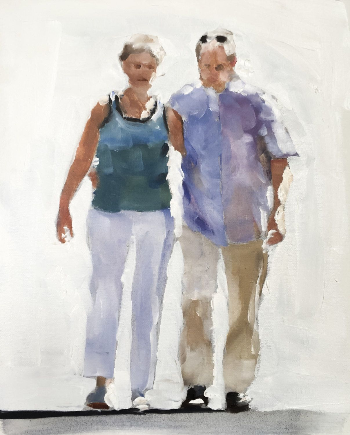 Old Couple Painting Old Couple Art PRINT -Love Painting