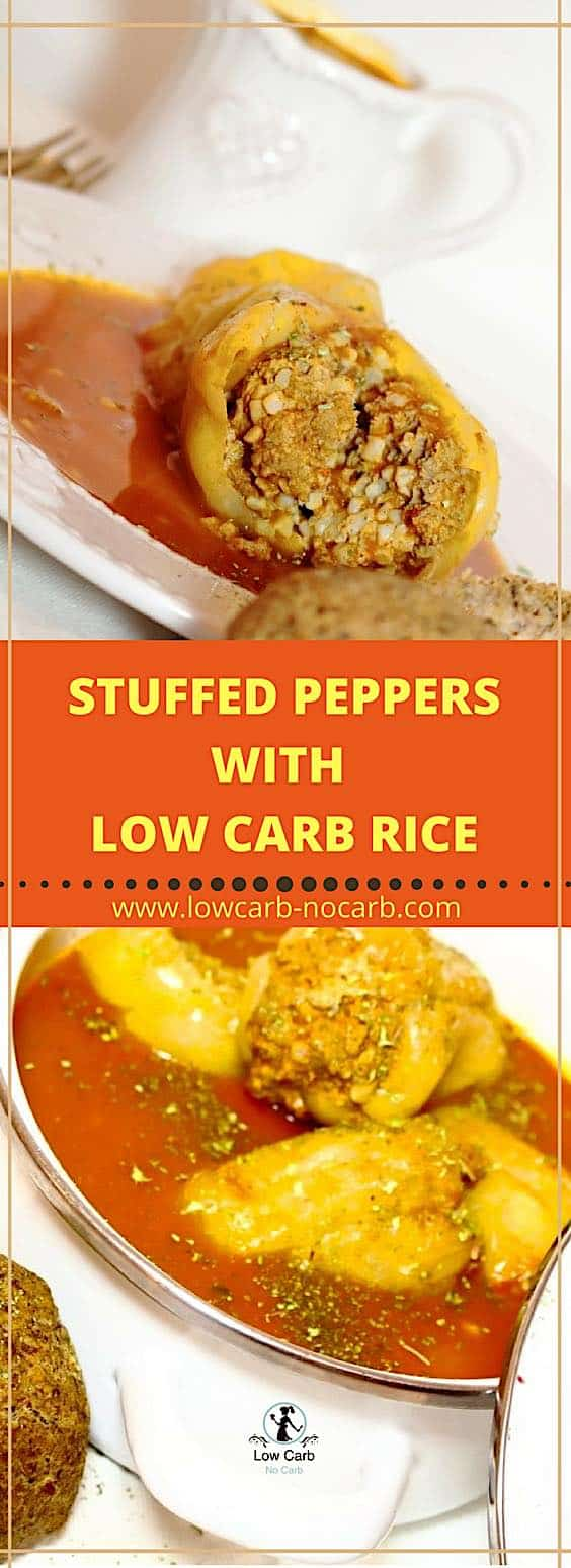 Stuffed Peppers With Low Carb Rice can be made anytime you feel to warm up or just if you have too many peppers at home Tomatoes as well