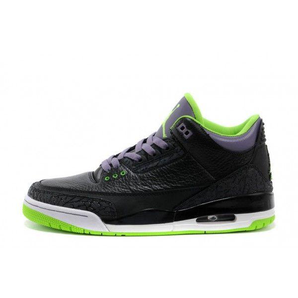 373b2663988c where to buy air jordan 3 mens retro joker black electric green canyon  purple white basketball shoes