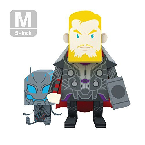 momot paper craft toy marvel avengers 2 thor 5inch m size 13cm