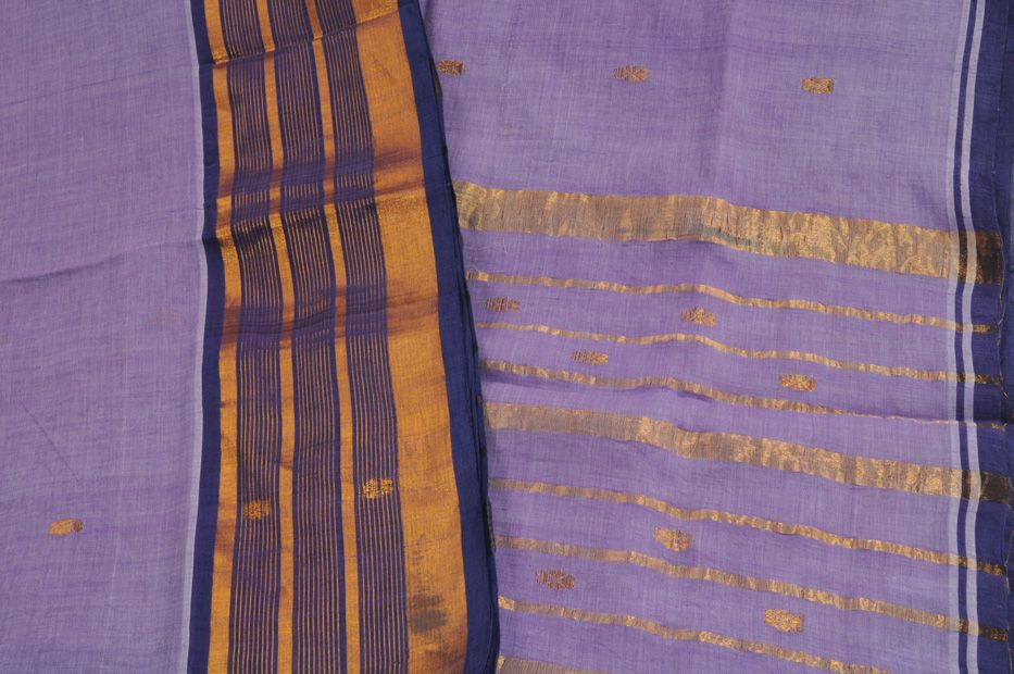 Venkatgiri Sari Lilac Cobalt $72
