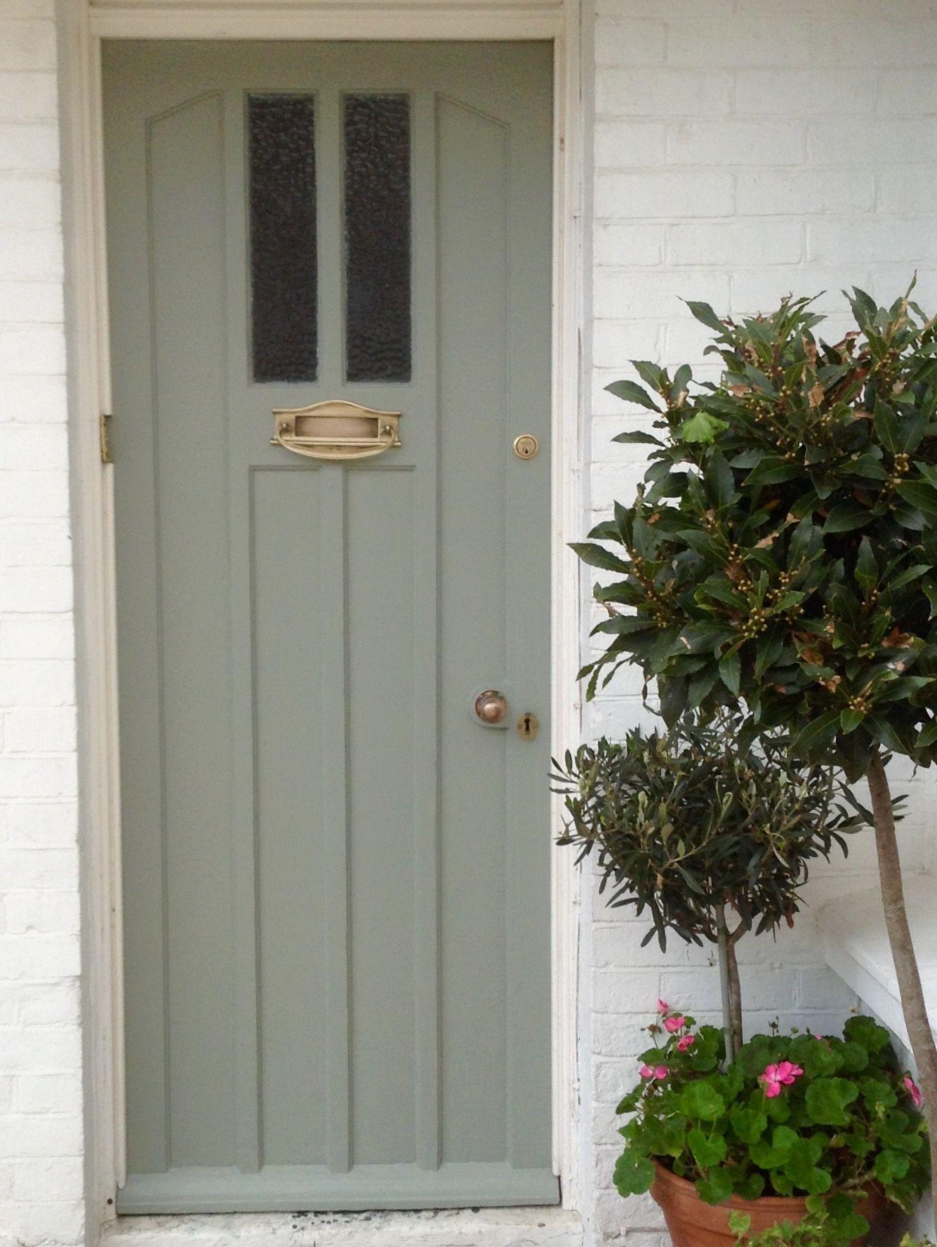 Farrow and ball pigeon front door painted front doors