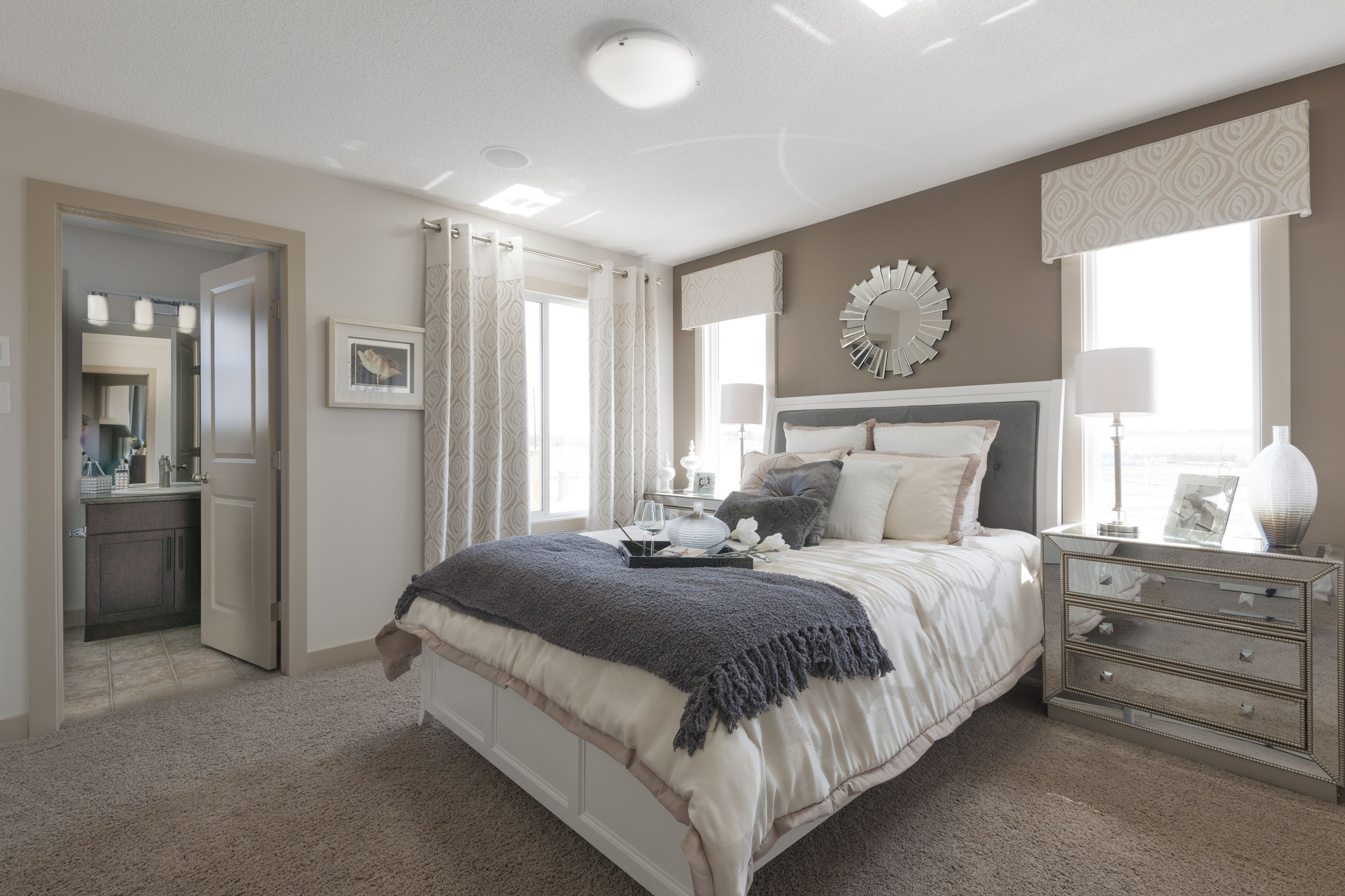 Master bedroom vs owners suite  How gorgeous is this ownerus suite I love all the natural light