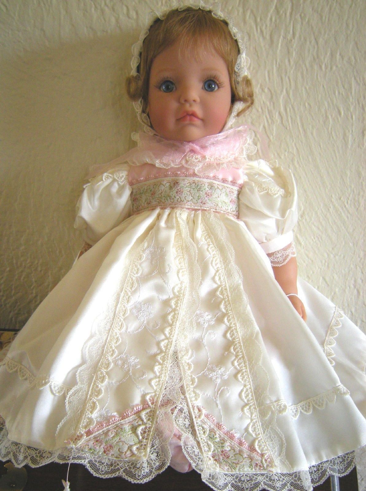 """Memories"" By, Susan Wakeen - Part of the Signature Series - Top of the line toddler/baby dolls - She is soft vinyl and VERY RARE! Her dress over her cute baby pants and booties :)"