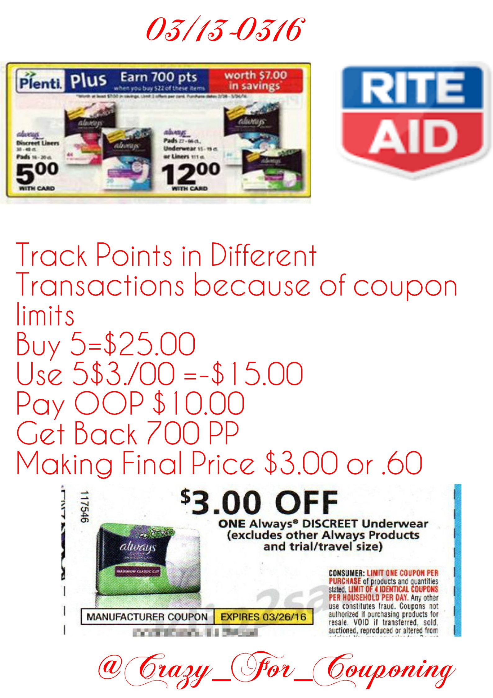 Pin by Crazy For Couponing on Rite Aid Coupon Match Ups | Pinterest ...