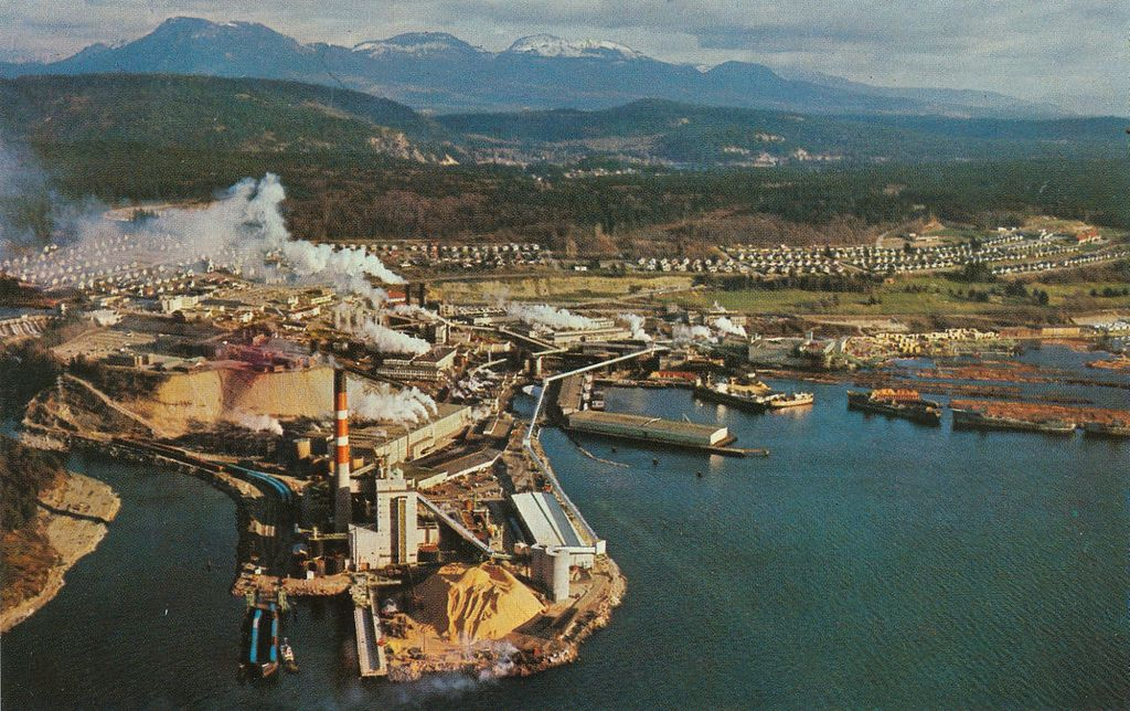 Image result for macmillan bloedel pulp mill powell river bc canada