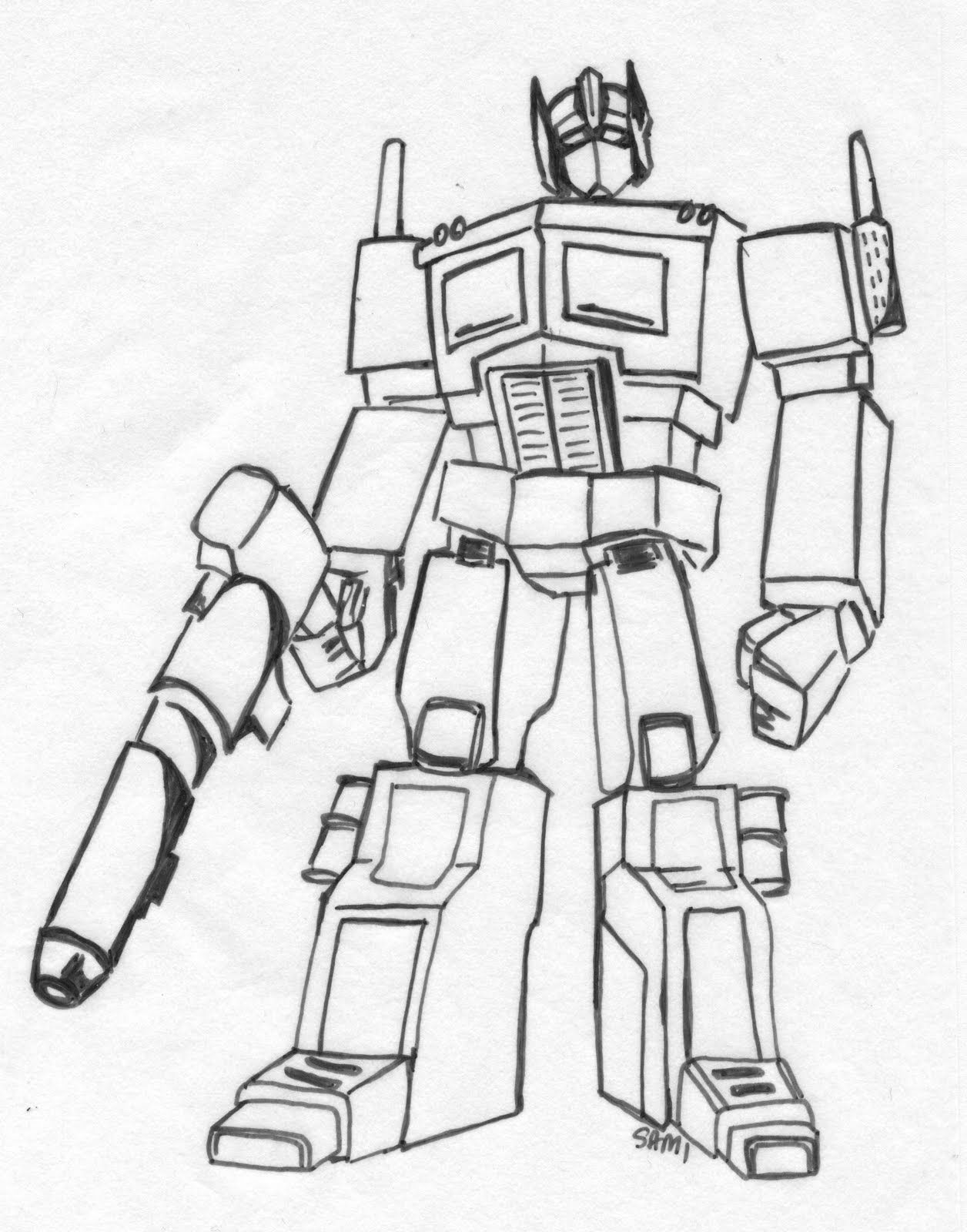 optimus prime animated coloring pages | Pin by Shilah LaMere on projects | Transformers coloring ...