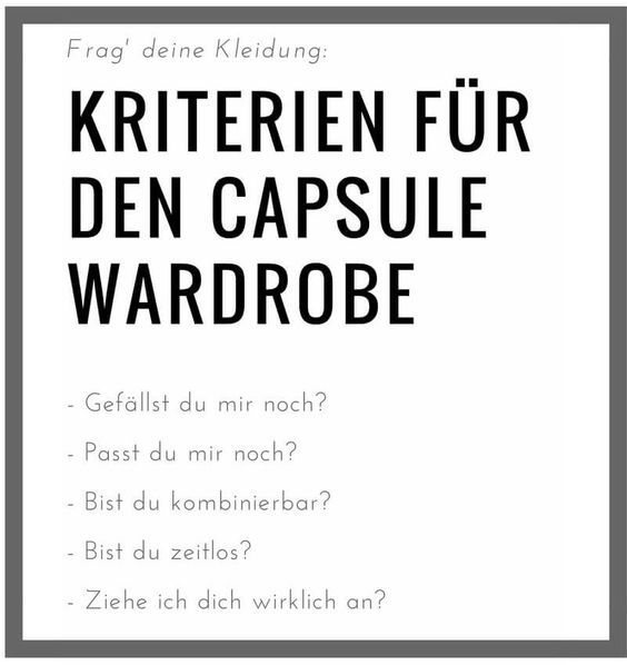 Capsule Wardrobe - wie anfangen | Project 333/ Capsule ...