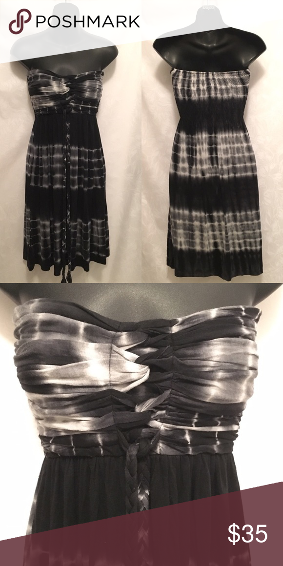 Strapless Tie Dye Dress