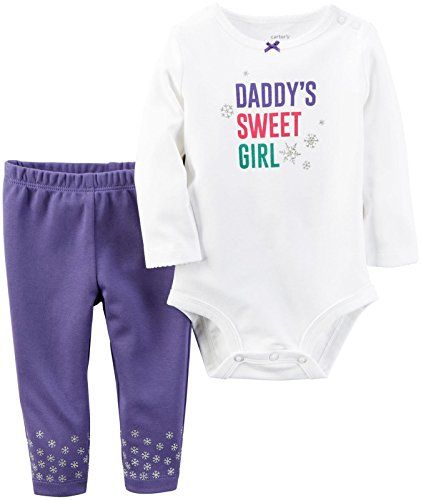 37d80bb82a1 Carters Baby Girls Bodysuit Pant Sets 121g859 Daddys Sweet Purple 18M     Read more at the image link.(It is Amazon affiliate link)  fslc