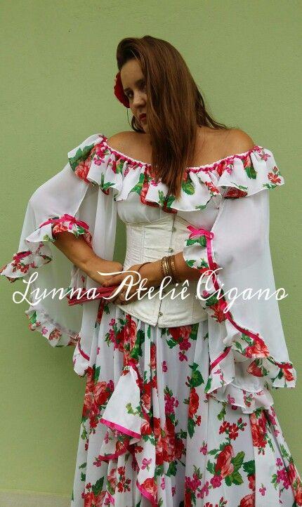 9d67a51ad1 Blusa Encanto Florido Traje cigano floral gypsy skirt dança cigana gypsy  dance floral skirt www.facebook.com ateliecigano