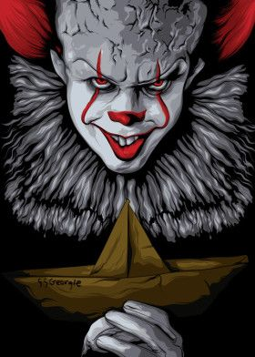 Pennywise Movies Poster Print   metal posters