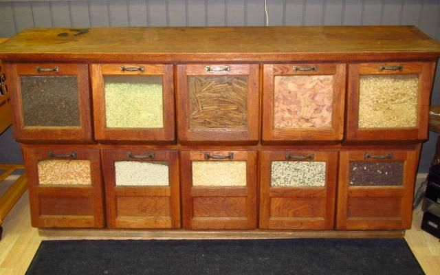 Solid Oak 10 Drawer Walker Bin Co. Grain / Seed Counter ...