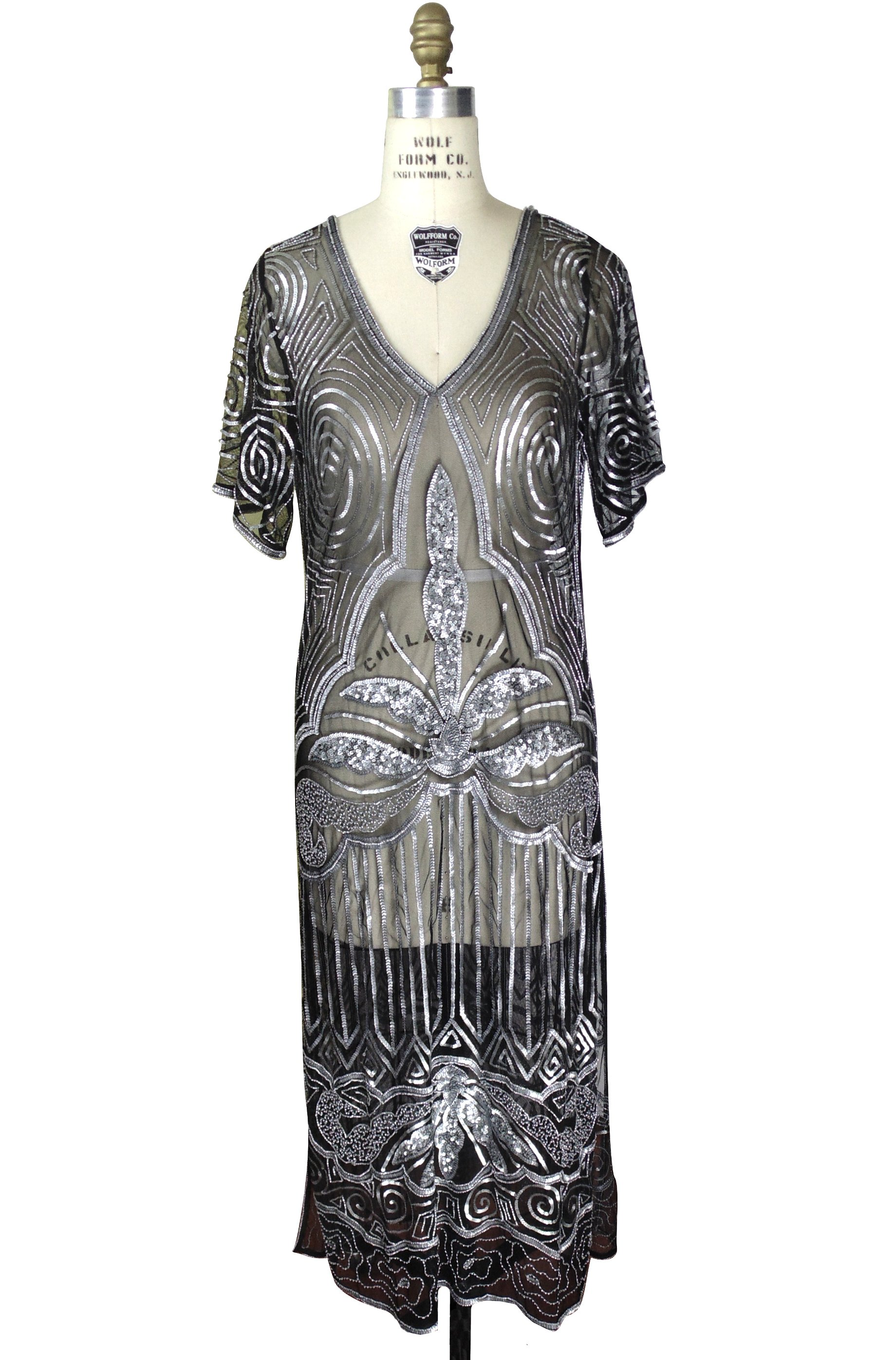 S long panel downton abbey gown the majestic antique silver