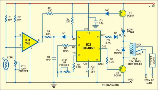 Street Light Controller With Images Street Light Electronics