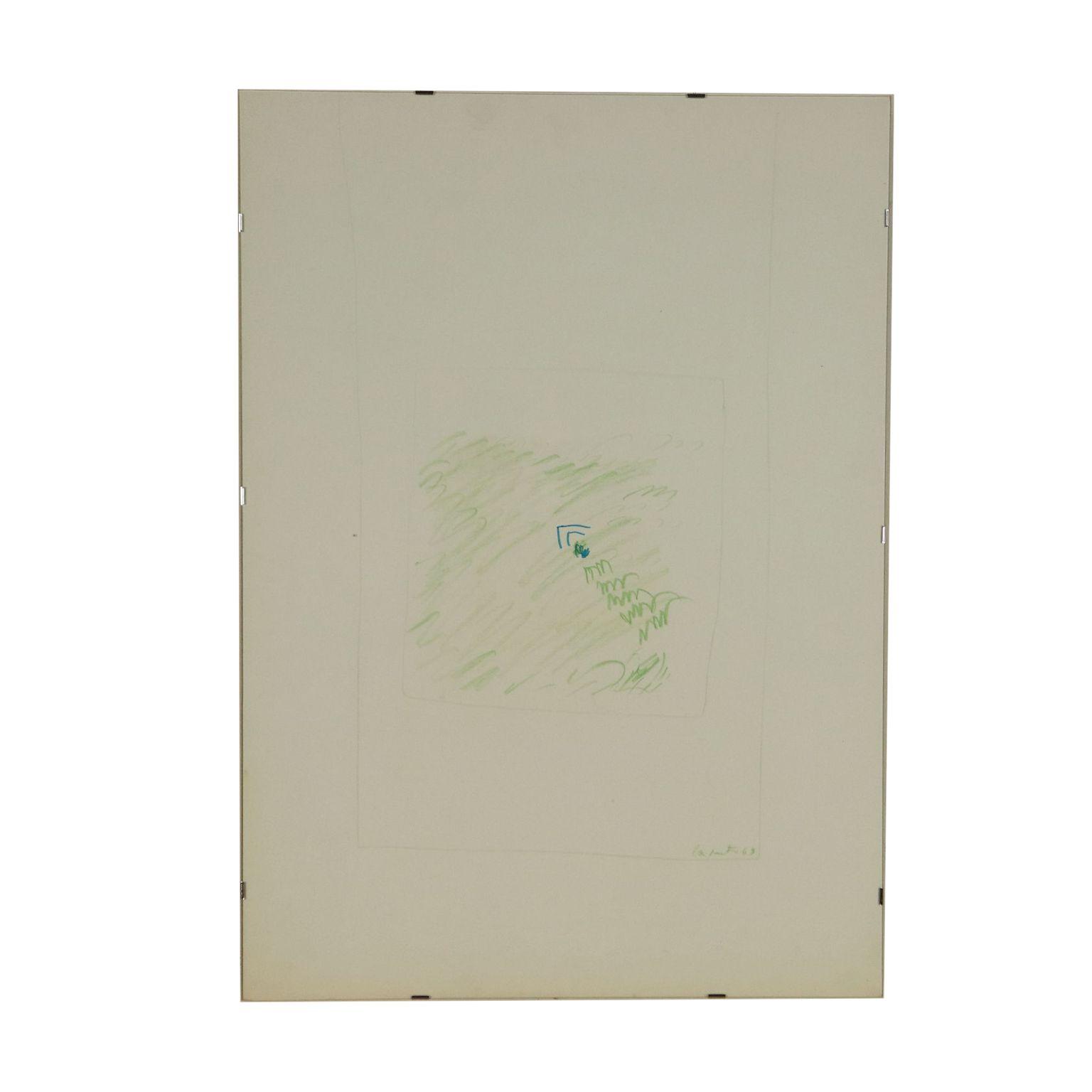 Dessin De Ugo La Pietra Technique Mixte Sur Papier 1963