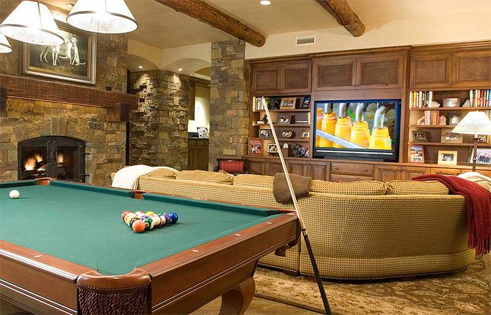 Game room photos telluride luxury ski vacation rental for Rec room pools