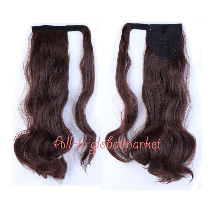 Long Curly Wavy Ponytail Hairpiece Extension