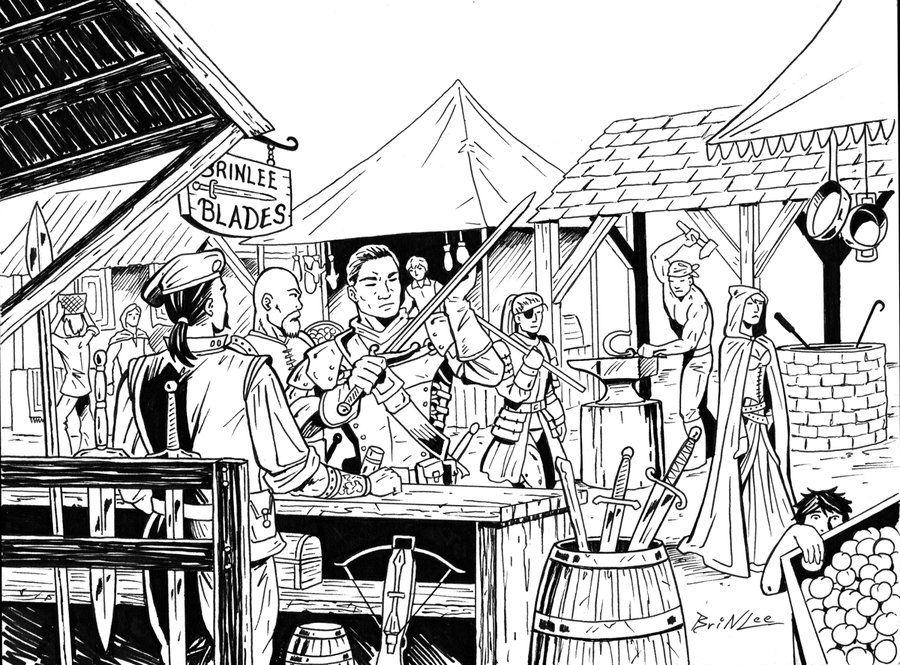 Coloring Pages Zinnia : Village market rpg piece by taman88.deviantart.com on @deviantart