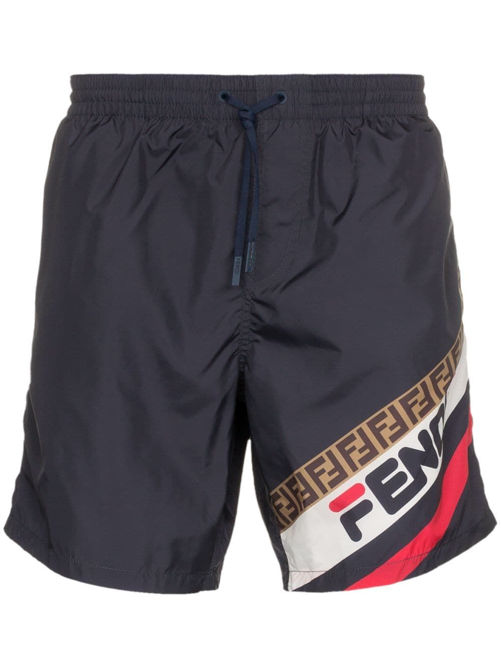 21389370dfc FENDI FENDI FILA LOGO SWIM SHORTS - BLUE. #fendi #cloth | Fendi in ...