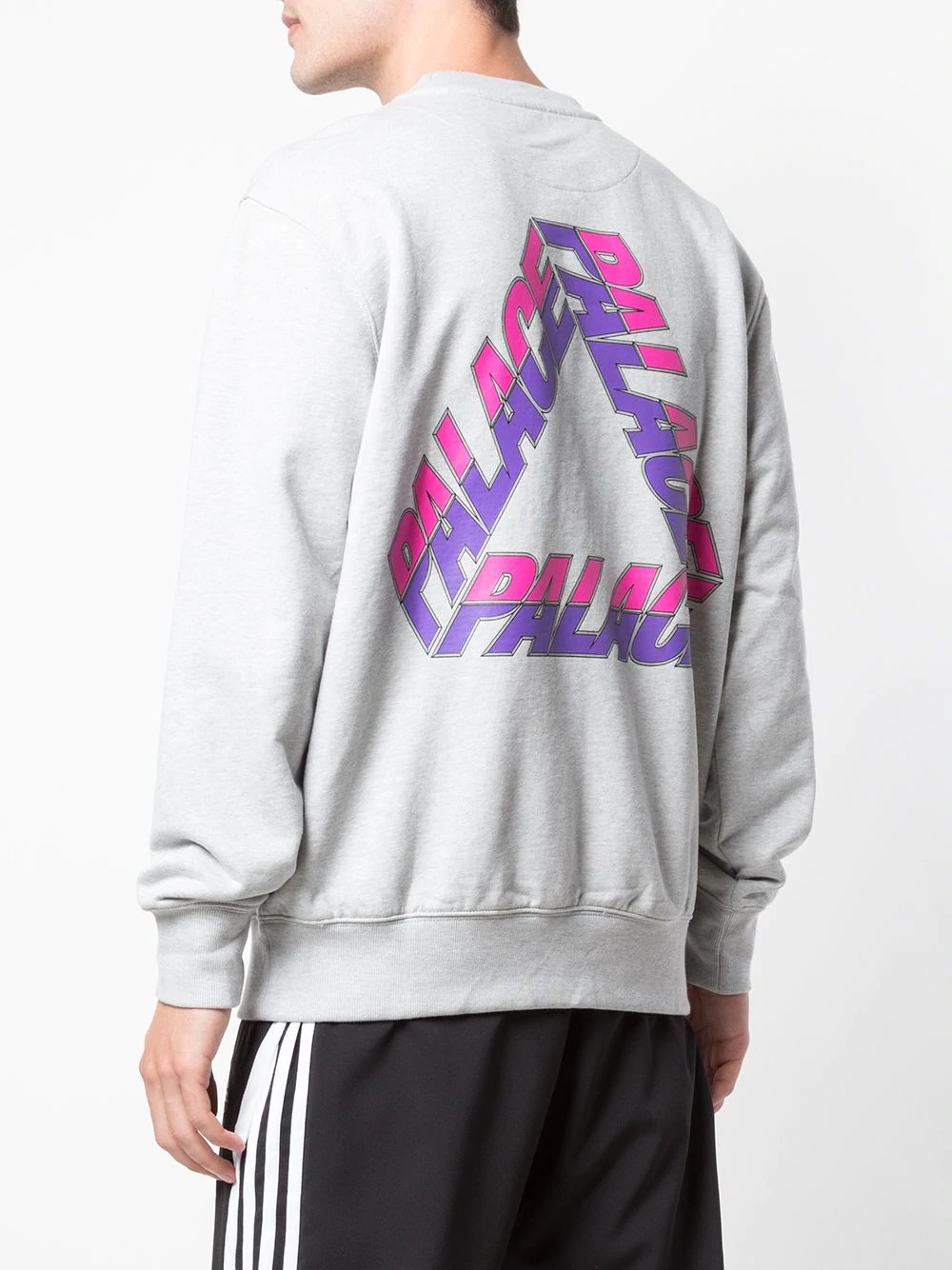 Free Shipping Palace X Adidas Crewneck Tops Tracksuit Tops Streetwear Outfit 90s Sporty Fashion Men [ 1333 x 1000 Pixel ]