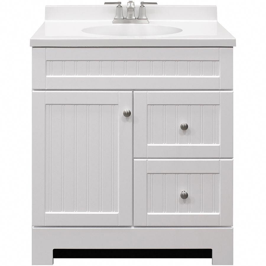 Shop Style Selections Ellenbee White Integral Single Sink Bathroom