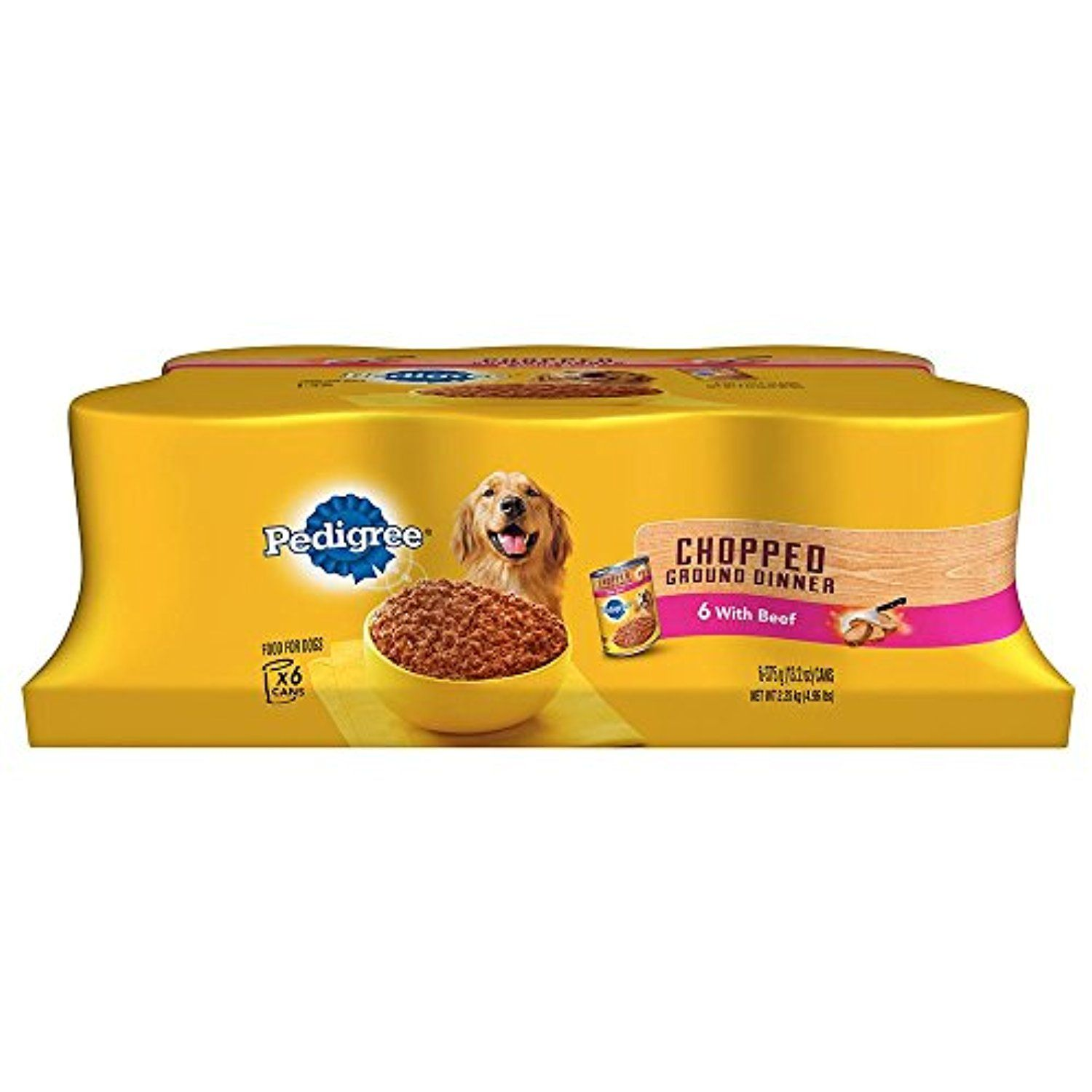 Pedigree Wet Foods Traditional 6 Count Ground Dinner Chopped Beef