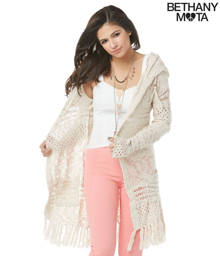 Hooded Drape Cardigan from Bethany Mota Collection at Aeropostale ... c10006d52