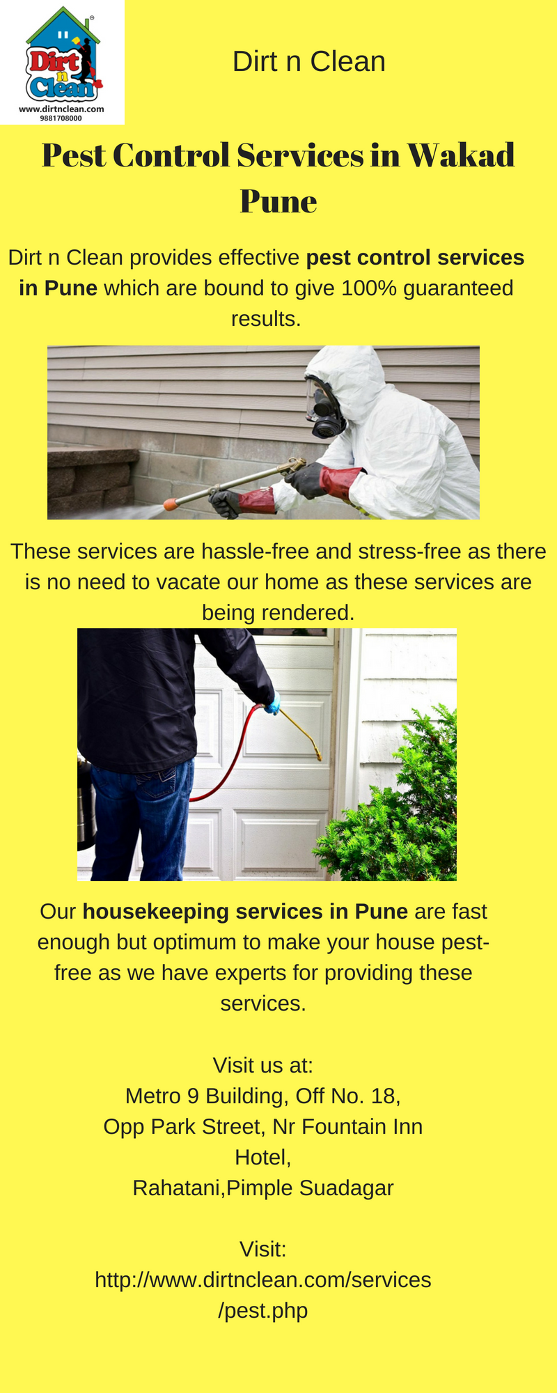 Dirt N Clean Is One Of The Best Pest Control Services In