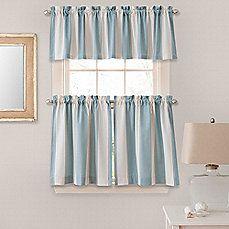 Bathroom Image Of Lauren Stripe Window Curtain Tier Pairs And