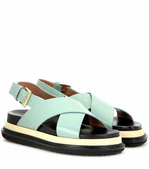Leather platform sandals | Marni