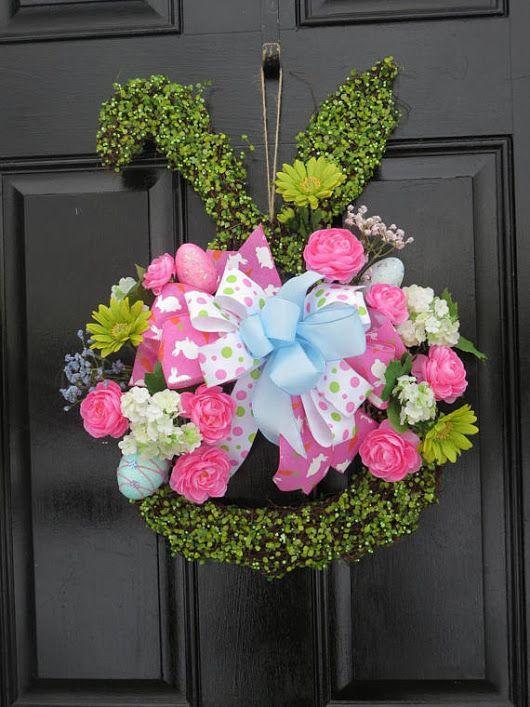 Easter Door Hanger Easter Bunny Wreath Easter Door Wreath