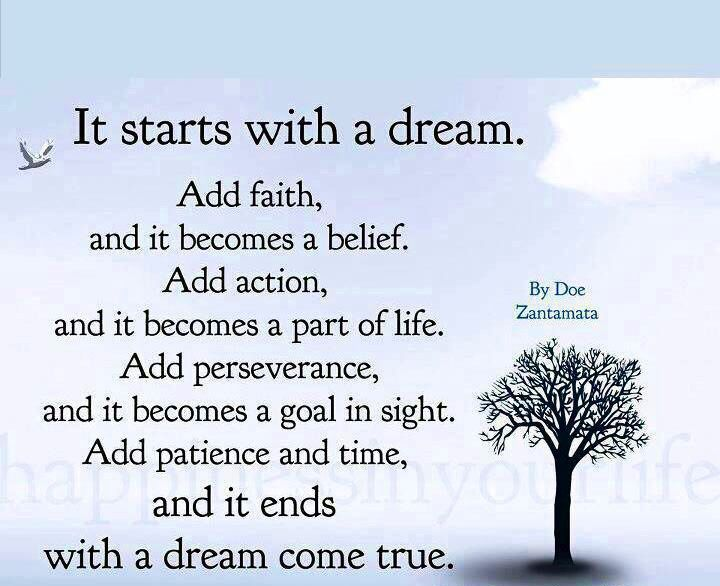 Dream comes true quote quote dream time rules world pinterest dream comes true quote altavistaventures Images