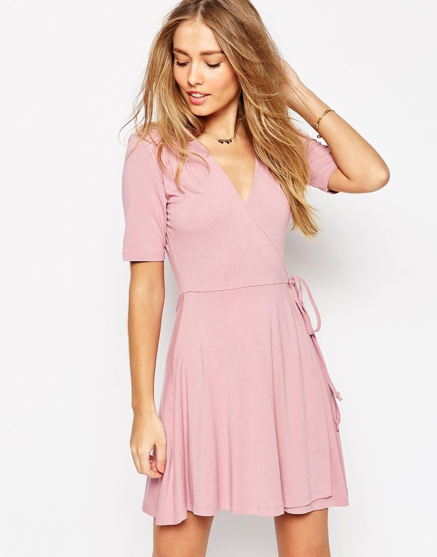 ASOS Mini Tea Dress with Wrap Front | Dresses | Pinterest | Wraps ...