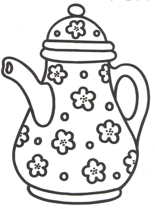 Desenhos Para Colorir De Flores Pesquisa Google Teteras Dibujo Dibujos Patrones De Bordado