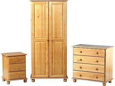 Antique pine bedroom #furniture set - wardrobe, drawers, #bedside - sol # - Antique Pine Bedroom #furniture Set - Wardrobe, Drawers, #bedside