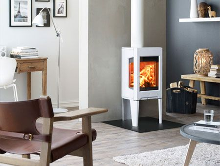 Jotul woodburning stove in White Enamel finish. - JOTUL WOOD BURNING FIREPLACES - WOOD BURNING FIREPLACE Tiny