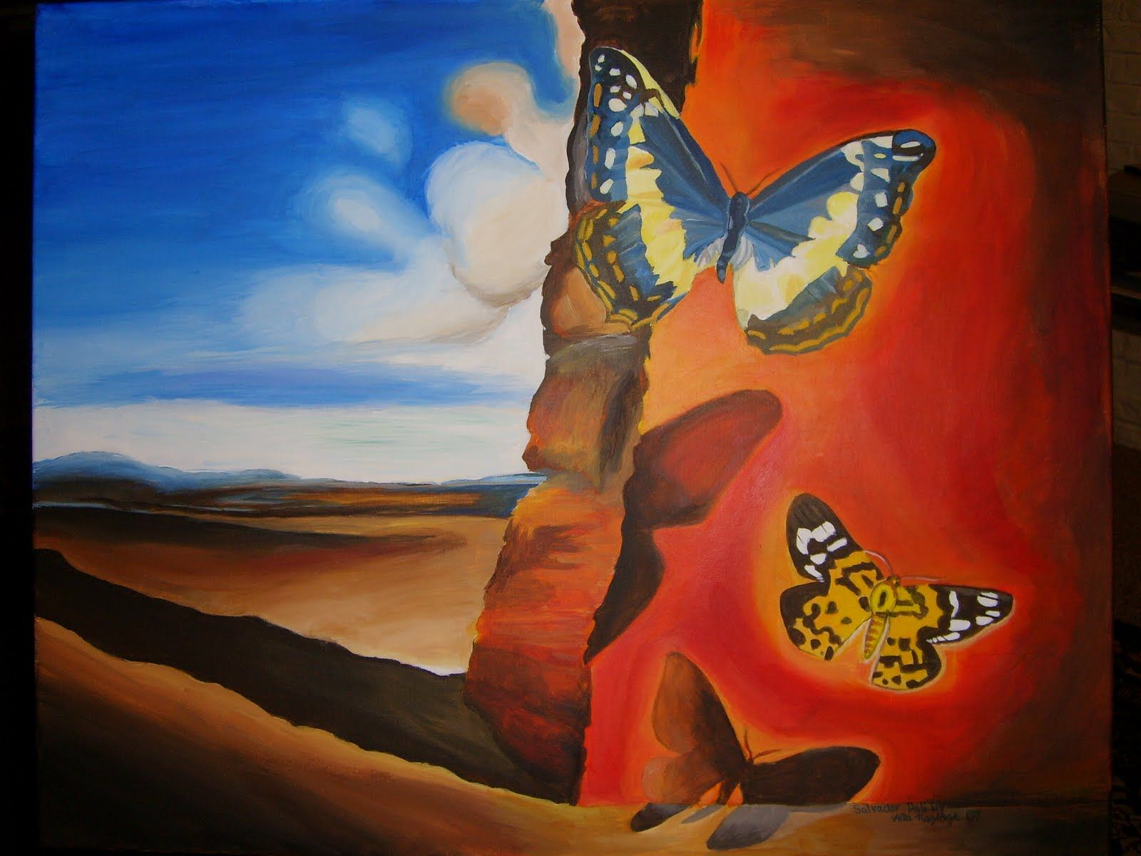 Salvador Dali, Butterfly Landscape, 1951. | exhb ...